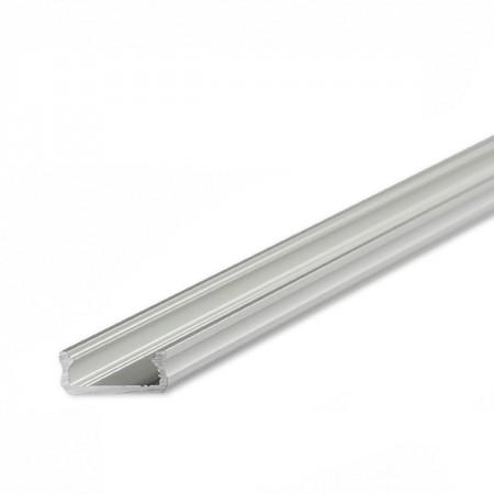 Strieborný hliníkový profil