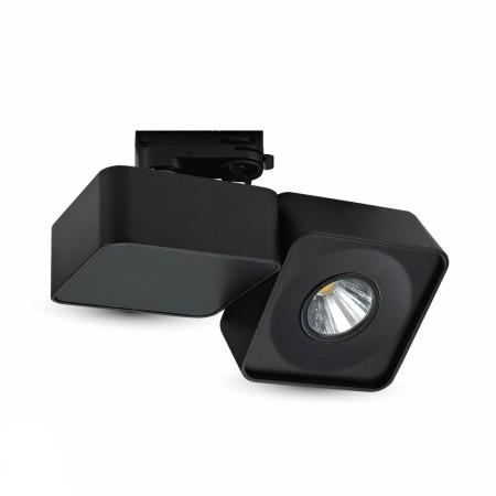Čierny hranatý LED reflektor 23W do interiéru