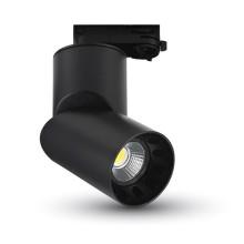 Čierny okrúhly LED reflektor 23W do interiéru
