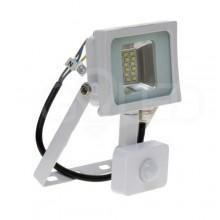 Prémiový biely LED reflektor 10W s pohybovým senzorom