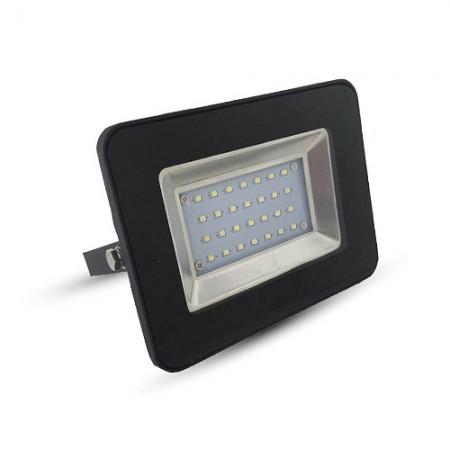 Prémiový čierny LED reflektor 20W