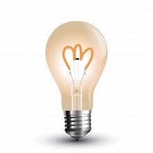 Jantárová LED filament žiarovka E27 A60 3W