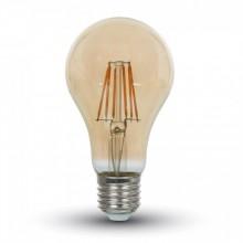 Jantárová LED filament žiarovka E27 A67 8W