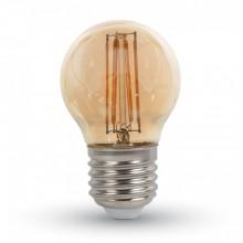 Jantárová LED filament žiarovka E27 G45 4W