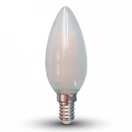 Opálová LED filament sviečka E14 4W