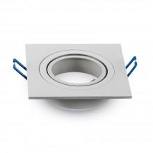 Hranatý biely hliníkový rámik na žiarovky