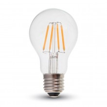LED filament žiarovka E27 A60 4W