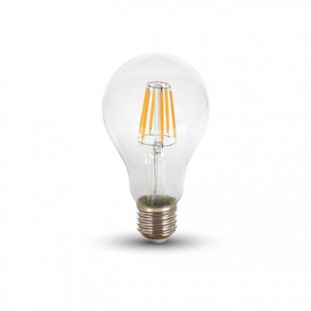 LED filament žiarovka E27 A67 8W
