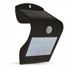 Čierne LED solárne svietidlo 1,5W so svetelným senzorom