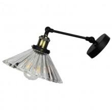 Sklenená nástenná lampa