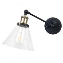 Sklenená nástenná lampa kužeľ