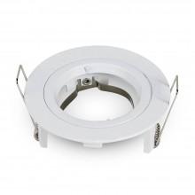 Okrúhly biely hliníkový rámik na žiarovky malý