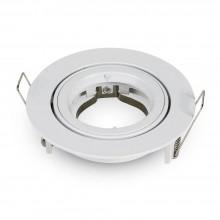 Okrúhly biely hliníkový rámik na žiarovky veľký