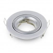Okrúhly strieborný hliníkový rámik na žiarovky veľký