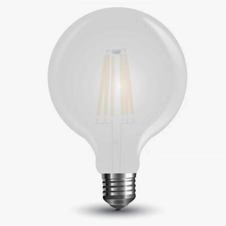 Opálová LED filament žiarovka G125 E27 7W