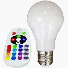 RGB LED žiarovka E27 A60 6W