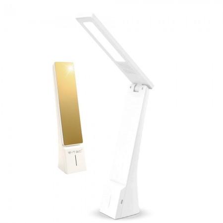 Zlatá stmievateľná stolová LED lampa 4W s voliteľnou farbou svetla