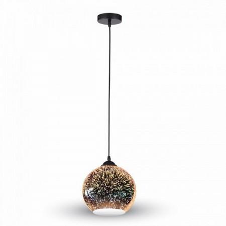 Závesná lampa s 3D efektom
