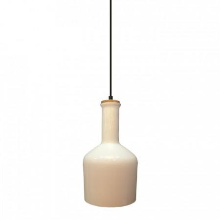 Biela závesná lampa váza
