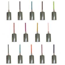 Chrómová závesná lampa s farebným káblom (14 farieb)