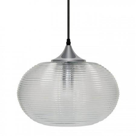 Sklenená číra závesná lampa