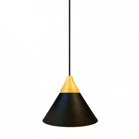 Matná čierna hliníková závesná lampa