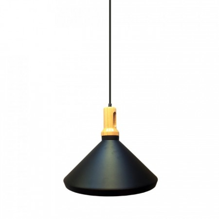 Čierna kovová závesná lampa