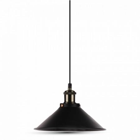 Matná čierna závesná lampa