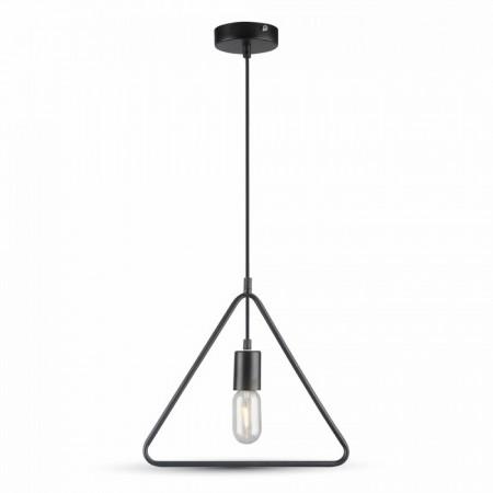 Matná čierna závesná lampa triangel