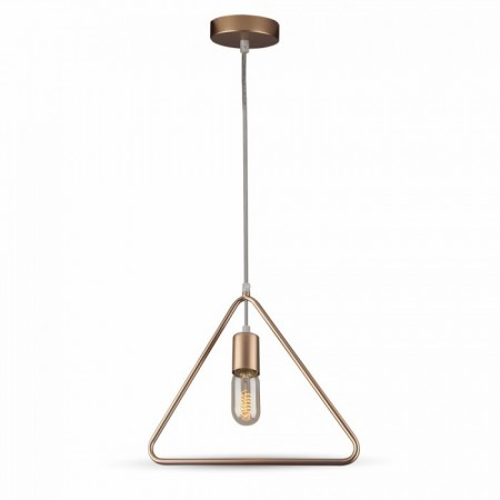 Matná zlatá závesná lampa triangel