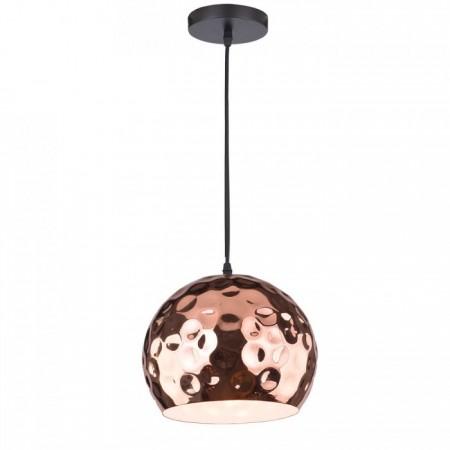 Medená závesná lampa guľa