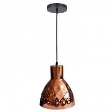 Medená závesná lampa zvon