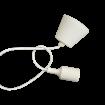 Biela silikónová závesná lampa