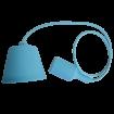 Bledomodrá silikónová závesná lampa