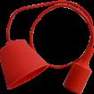 Červená silikónová závesná lampa