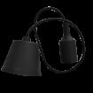 Čierna silikónová závesná lampa