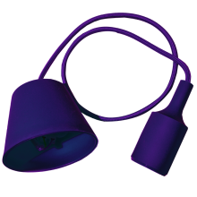 Fialová závesná silikónová lampa