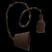 Hnedá silikónová závesná lampa