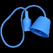 Modrá silikónová závesná lampa