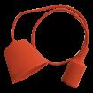 Oranžová silikónová závesná lampa