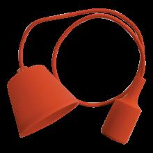 Oranžová závesná silikónová lampa