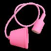 Ružová silikónová závesná lampa