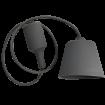 Sivá silikónová závesná lampa
