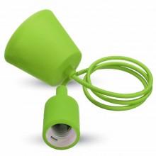 Zelená závesná silikónová lampa