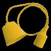 Žltá silikónová závesná lampa