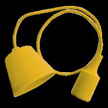 Žltá závesná silikónová lampa