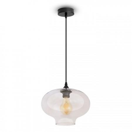 Sklenená závesná lampa ovál
