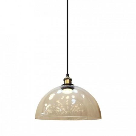 Sklenená závesná lampa pologuľa