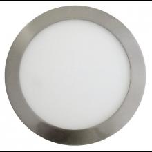 Satin nikel okrúhly zapustený LED panel 12W