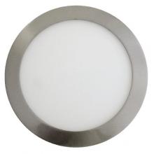 Satin nikel okrúhly zapustený LED panel 6W
